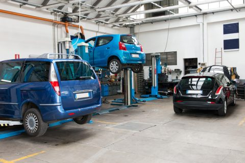 cars in workshop