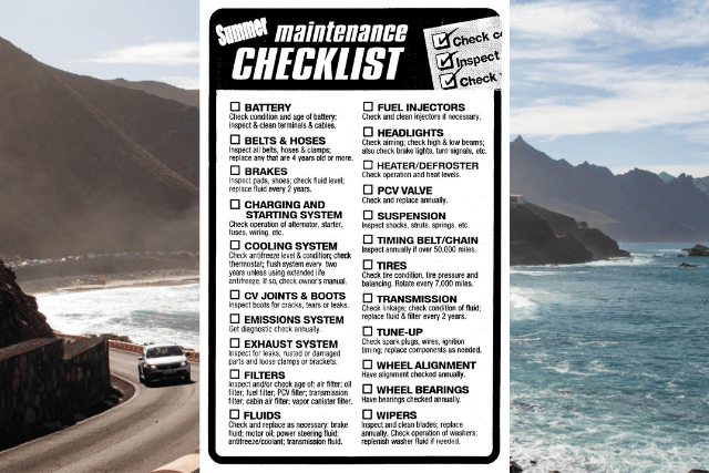 The Top Five Summer Auto Maintenance Tips